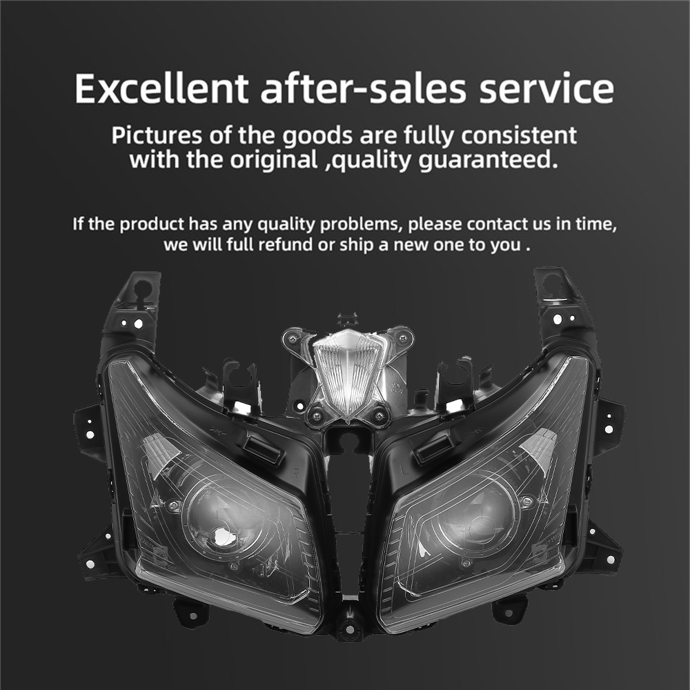 Image 5 - For Tmax530 Motorcycle HeadLight For Yamaha TMAX 530 Front Headlamp For T MAX530 2012 2013 2014 Assembly Lamp Head Light Replace