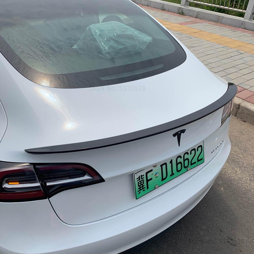 AITWATT para Tesla modelo 3 alerón de ala fibra de carbono alerón del techo del maletero 2017 2018 2019 2020