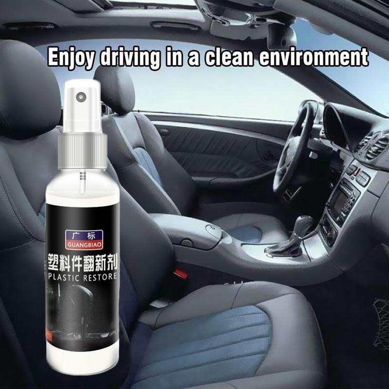 50ml/100ml/120ml Interior Auto Plastic Renovated Coating Car Plastic Parts Retreading Agent Car Liquid Skin Maintenance Agent