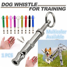 New Ultrasonic Pet Dog Puppy Whistle Sound Obedience Training Key Ring Trainer