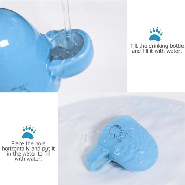 Creative Pet Drinking Bottle Slient Feeder Ceramics Slient Water Dispenser For Small Pets Guinea Pig Hamster Hedgehog Bird 4