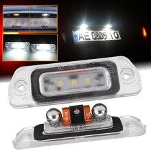 цена на 2 x White LED License Plate Light For Mercedes-Benz AMG ML GL R Class W164 W251