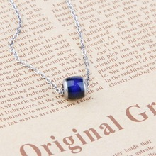 Mood Beads Color Changing Necklace Alloy with Lucky Changed for Emotion Feeling Changeable Men Women