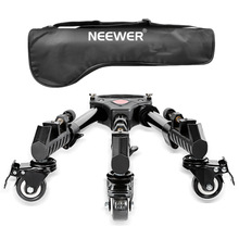 Neewer Professional Aluminum Alloy 15.7inch Extendable Adjustable Tripod Dolly Rubber Wheels for DSLR Camera Photography Video