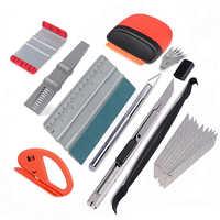 EHDIS de vinilo del abrigo del coche líquidos rascador cuchillo cortador de Kit de herramientas de carbono de película de papel de la etiqueta engomada de removedor de coche herramienta de tinte de ventana herramienta