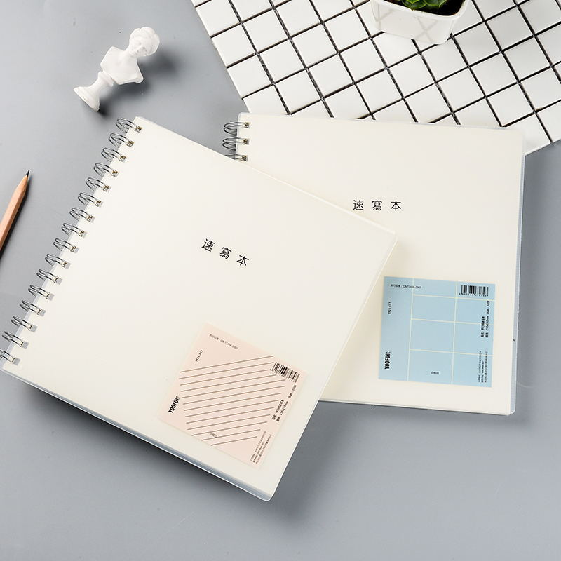 Korean Creative New Square Sketchbook PP Cover Coil Graffiti Book Blank Inside Page Four Styles Thickened Upturn Painting Book