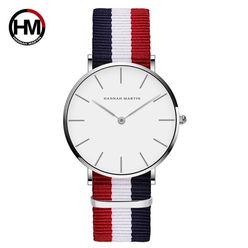 Dropshipping Japan Quartz Simple Women Fashion Watch White Leather Strap Ladies Wrist Watches Brand Waterproof Wristwatch 36mm