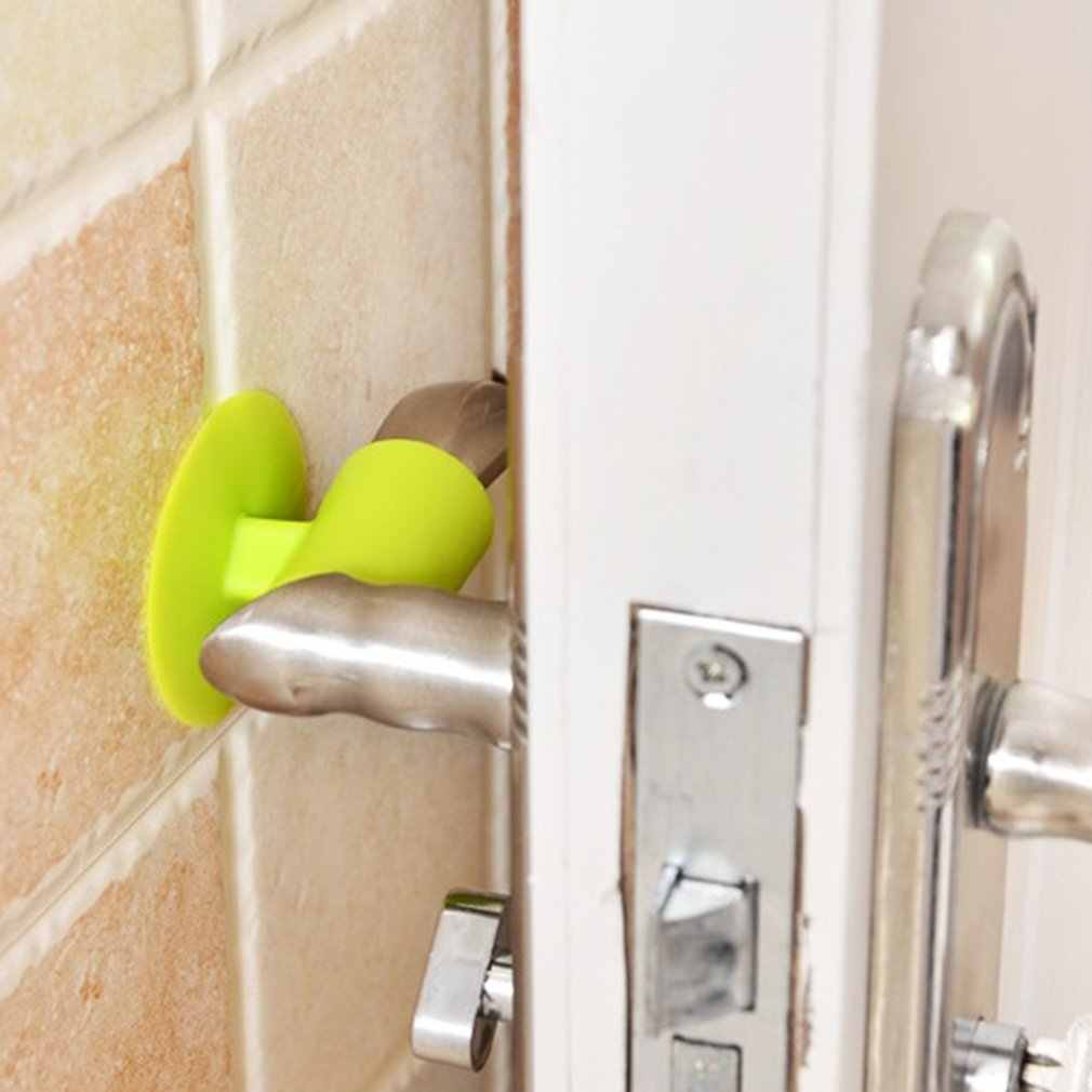 Soft Silicone Anti-Collision Door Protective Pad Suction Cup Type Cabinet Door Handle Lock Silencer Fender