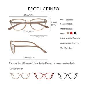Image 5 - Oprawki do okularów kocie oczy kobiety beżowe okulary moda kobiety oprawki do okularów octan okulary dla osób z krótkowzrocznością wyczyść Gafas okulary ramka kobiety