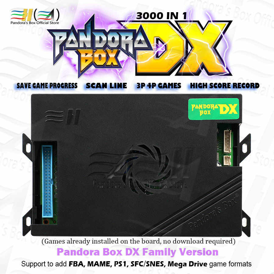 판도라 박스 DX 패밀리 버전 3000 in 1 3d 및 3P 4P 게임이 게임 진행 상황을 절약 할 수 있음 높은 점수 기능 tekken Killer instinct