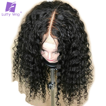 5x4.5 Silk Base Wigs Remy Brazilian 13x6 Lace Front Human Hair Wigs curly With Baby Hair Glueless 150 Density For Women LUFFY