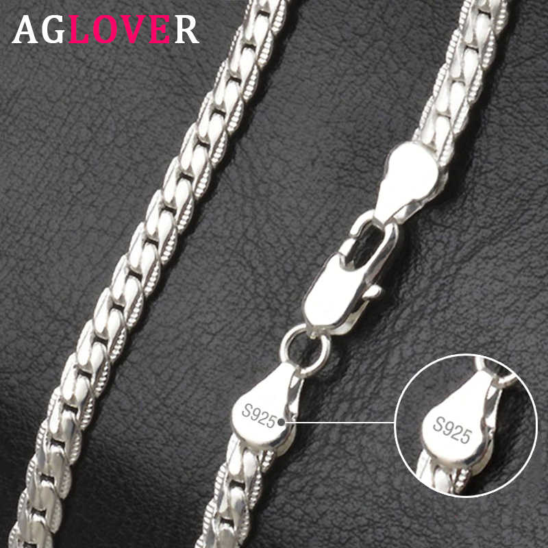 925 Sterling Silver Vintage Germany Tassel Design Twisted Chain Necklace 15 18