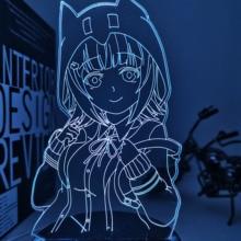Lamp Danganronpa Led-Night-Light Chiaki Nanami Bedroom-Decor Acrylic Kids Gift