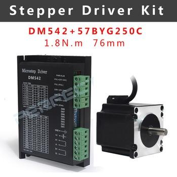 DM542 kit de controlador de motor paso a paso con 57BYG250C Nema23 motor 76mm 1.8N.m impresora 3D 4-plomo