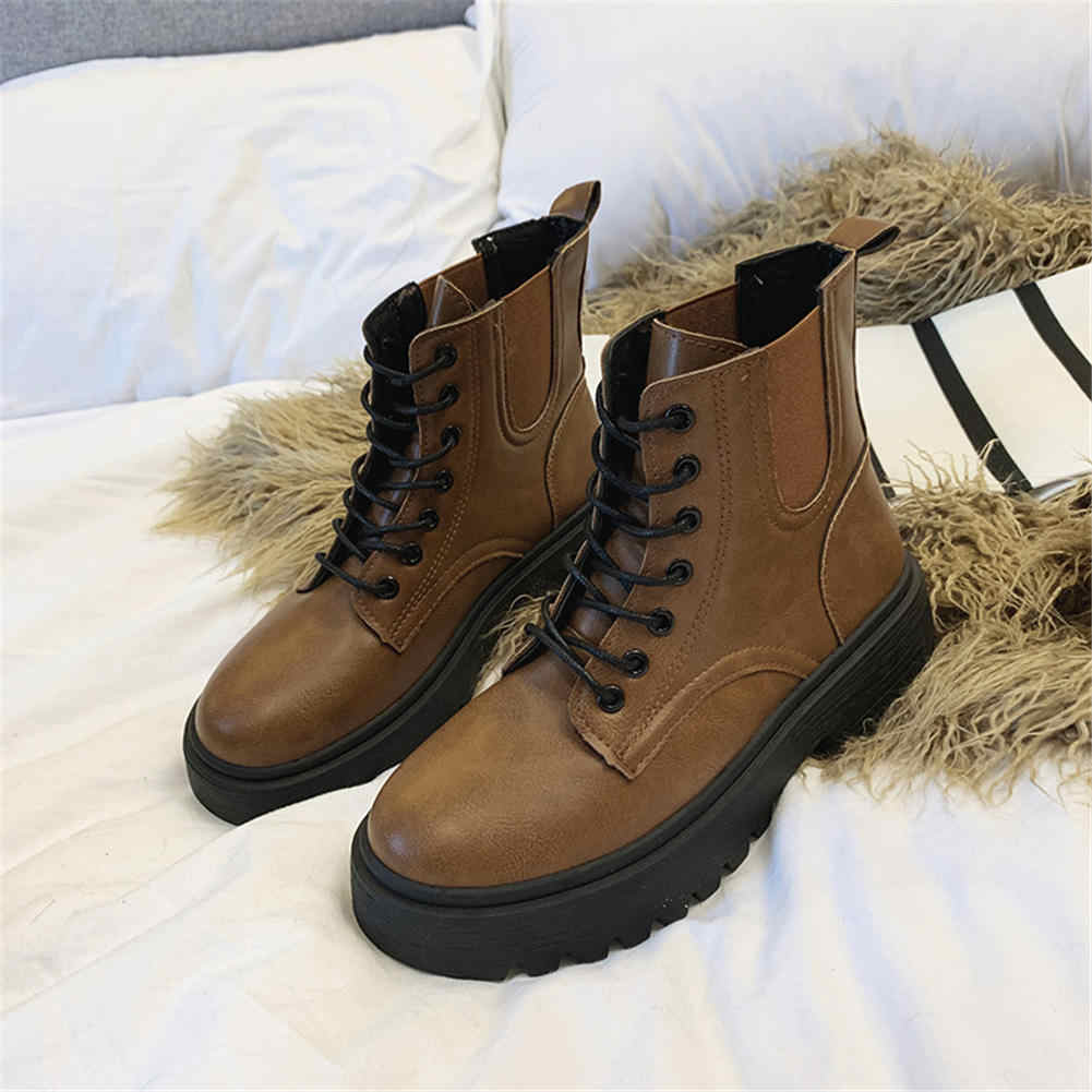 KARINLUNA 2019 DROPSHIP kaliteli serin sokak kadın ayakkabı yarım çizmeler kadın botları kadın ayakkabısı
