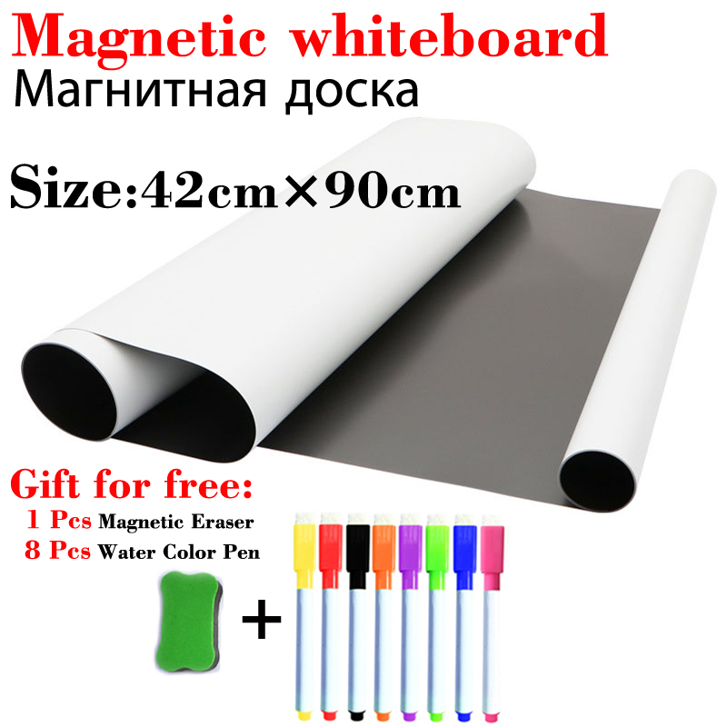 Dry Erase White Boards 420*900mm Magnetic WhiteBoard Fridge Wall Stickers Kids Drawing Board Home Office School Message Boards