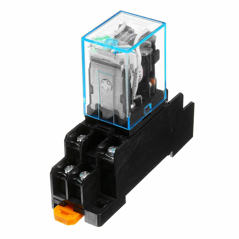 1pc 220/240V AC 10A 8PIN Coil Power Relay DPDT LY2NJ HH62P HHC68A-2Z With Socket Base