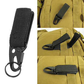 2Pcs/4Pcs Tactical Gear Clip Key Ring Holder Outdoor Multi-purpose Military Belt Keeper Utility Hanger Hook Camping Hunting Tool 2