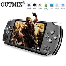 Consola de videojuegos X6, para juegos PSP, juego Retro portátil, reproductor de Mp4 con pantalla de 4,3 pulgadas, compatible con cámara de vídeo, E book