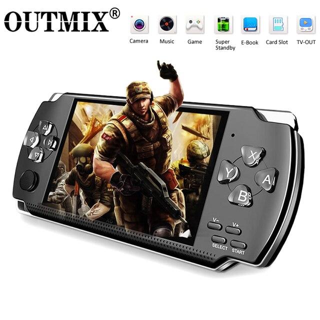 Gra wideo konsola do gier X6 na PSP gra ręczna gra Retro 4.3 calowy ekran odtwarzacz Mp4 odtwarzacz gier wsparcie kamera wideo E book
