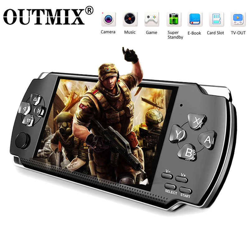 Video Game Console Player X6 For PSP Game Handheld Retro Game 4.3 Inch Screen Mp4 Player Game Player Support Camera Video E-book