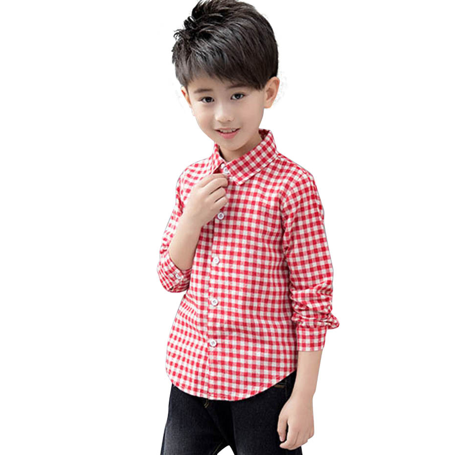 Children Boys Casual-Style Shirts