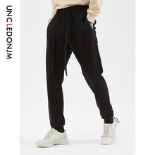 UNCLEDONJM Men Joggers Brand Male Trousers Casual Pants Sweatpants Jogger Grey Elastic Cotton GYMS Drawstring 570W