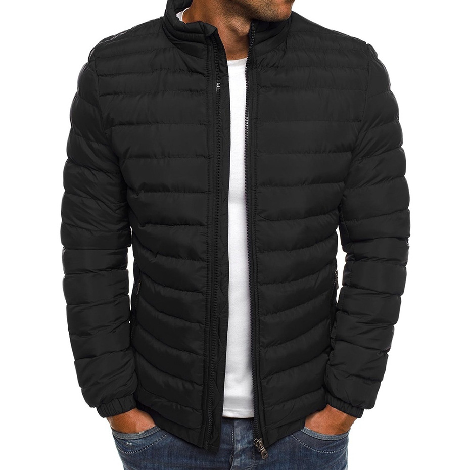 Puffer Jacket Coats Plus-Size Mens Winter 7-Colors Casual And Fashion S-3XL title=