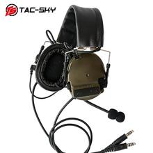 TAC-SKY COMTAC III Silicone earmuff daul version Noise reduction pickup headset -FG