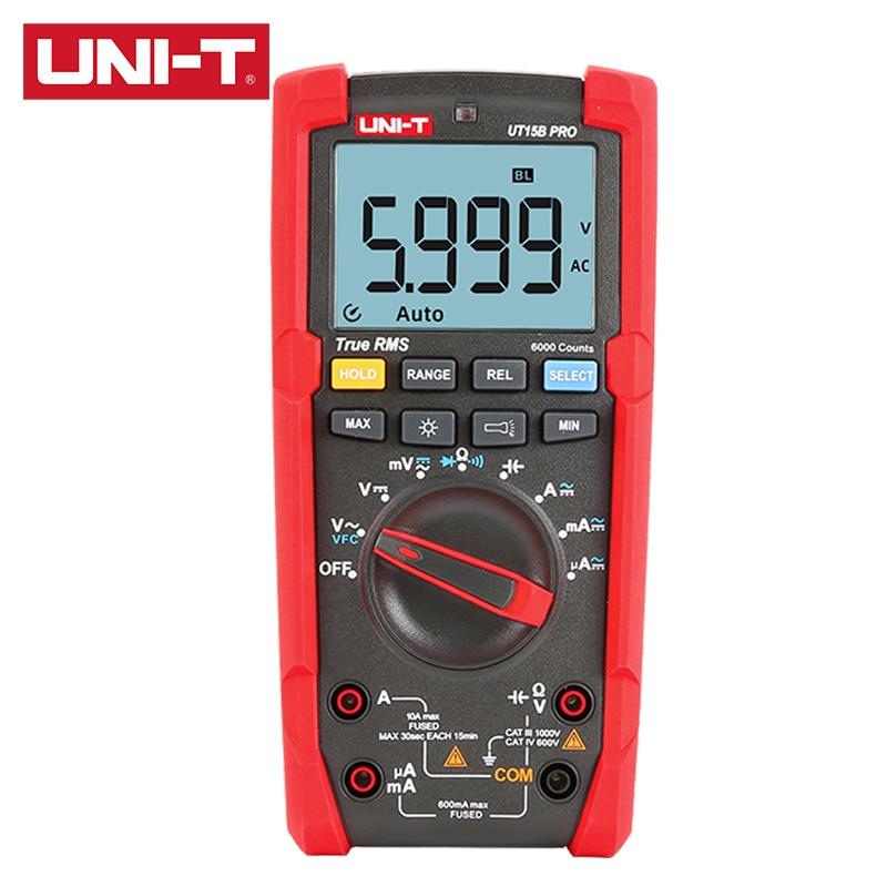 UT17B VFC PRO T Digital 1000V RMS UNI Digits Voltage Multimeter DC Warning UT15B AC 6000 True 600V Dangerous PRO Display