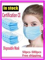 Máscara protetora 3 laye-máscara poeira-proteção-maska poeira-filtro máscara descartável mascarillas elástico anti-poluição mascaras