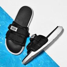 2019 Summer Men Slippers New Fashion Design Slides Men Outdoor Light Male Casual Slippers Unisex Beach Slippers Plus Size 35-46 цена 2017