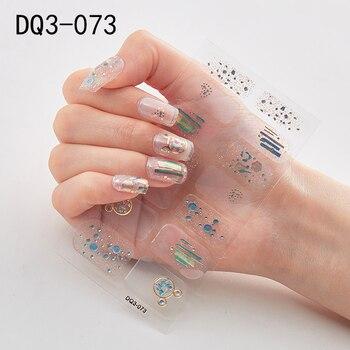 14pcs/sheet Glitter Gradient Color Nail Stickers Nail Wraps Full Cover Nail Polish Sticker DIY Self-Adhesive Nail Art Decoration 89