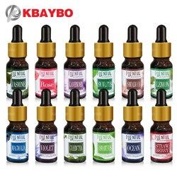 Novos óleos essenciais do óleo solúvel em água para a aromaterapia óleo do umidificador do óleo de lavanda com 12 tipos da fragrância subiu