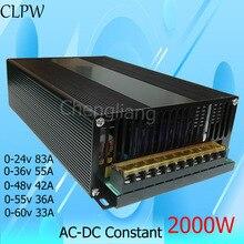 цена на Power Supply switching 2000W single output 24v 36v 48v 55v 60v driver power supply LED Light CCTV Stepper transformer AC-DC SMPS