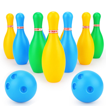 12pcs Family Games Colorful Educational Gifts Early Learning Home Toddler Kids Bowling Set Multiple Sizes Sport Toy Pins Balls