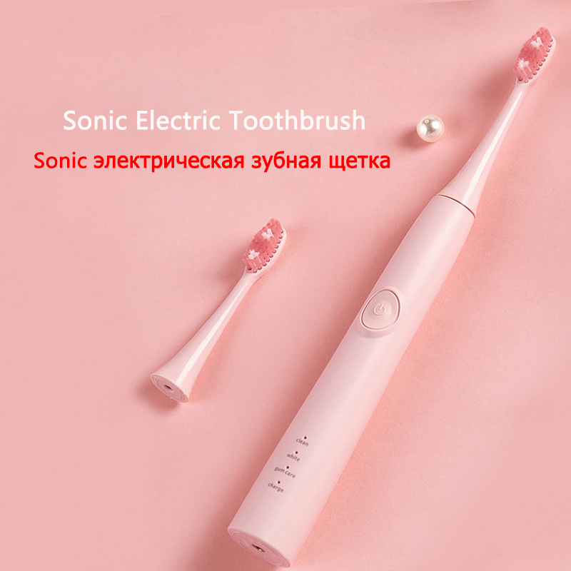 Rechargeable electric toothbrush 3-speed USB direct charge ultrasonic toothbrush for children adults IPX7 waterproof teeth brush image