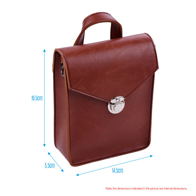 Portable Kalimba Storage Bag Microfiber Leather Multi Functional Soft Case Bag for Thumb Piano with Strap