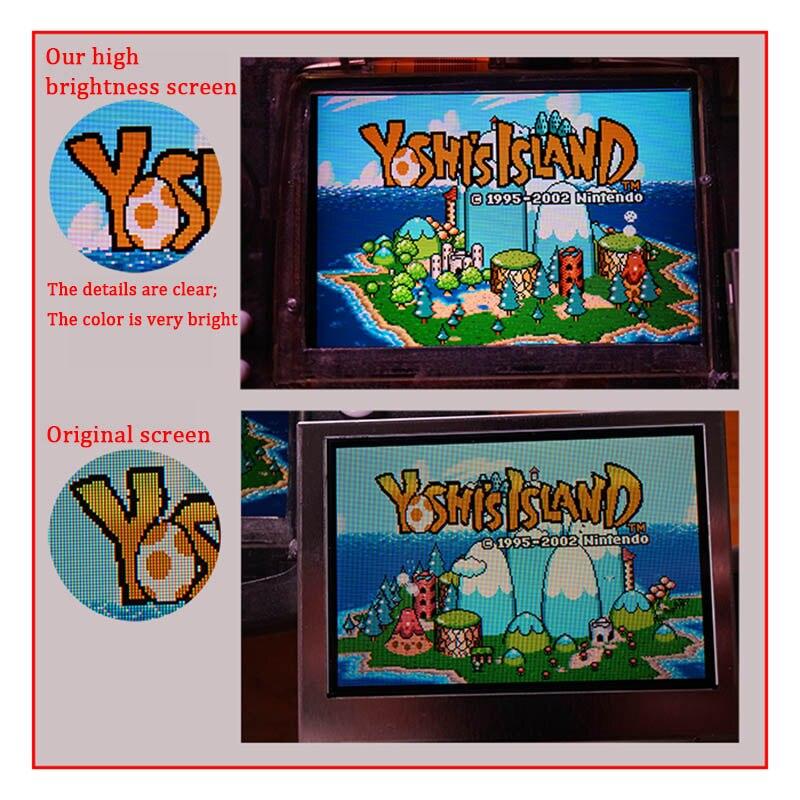 Remplacement d'écran LCD pour le rétro-éclairage GBA de l'intention kits de mod d'écran lcd 10 niveaux écran LCD IPS haute luminosité pour Console GBA - 3