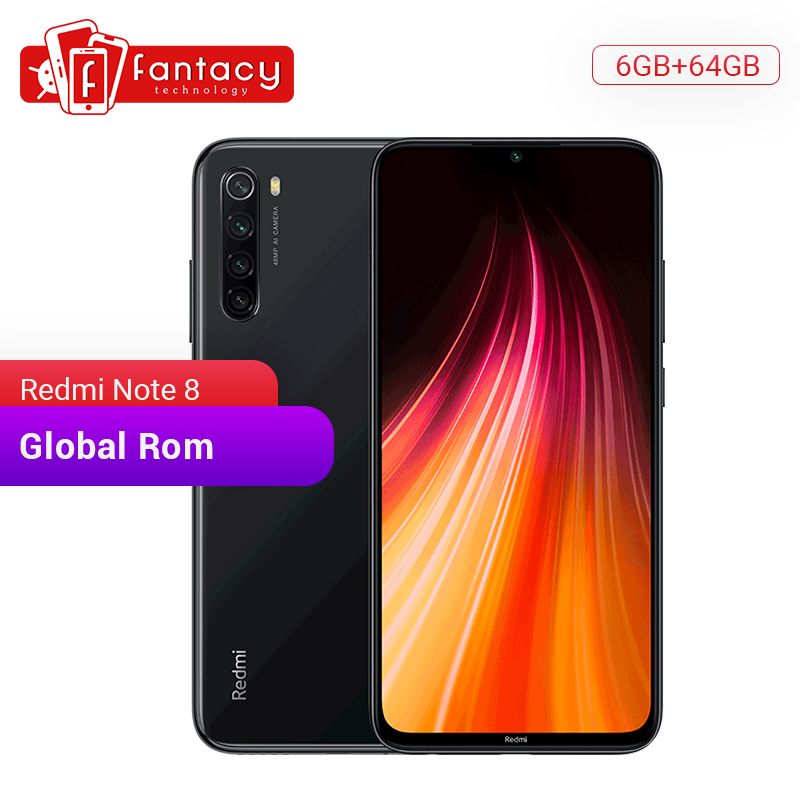 In Stock Global ROM Xiaomi Redmi Note 8 6GB 64GB 48MP Quad Camera Smartphone Snapdragon 665 Octa Core 6.3FHD Screen Quick Charge