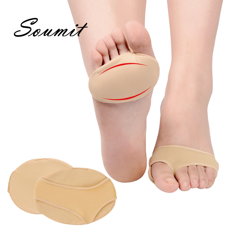 Soumit Silicone Gel Forefoot Pads Half Yard Protector Brace Relieve Pressure Antislip Relief Foot Pain Antalgic Massage Insoles