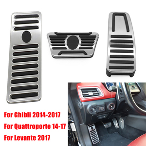Image 1 - Car For Maserati Ghibli Levante Quattroporte Gas Fuel Brake Footrest Pedal Plate Pad Cover Stainless Steel 2014 2015 2016 2017