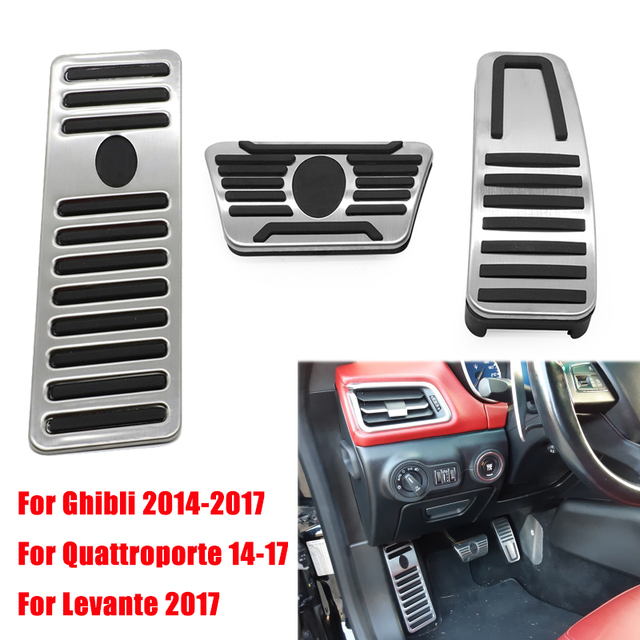 Car For Maserati Ghibli Levante Quattroporte Gas Fuel Brake Footrest Pedal Plate Pad Cover Stainless Steel 2014 2015 2016 2017
