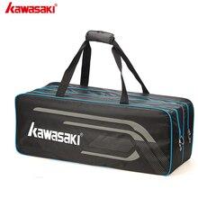 2020 Kawasaki, теннисные сумки для бадминтона, мужские спортивные сумки на одно плечо из полиэстера для 3 ракеток, сумки для бадминтона