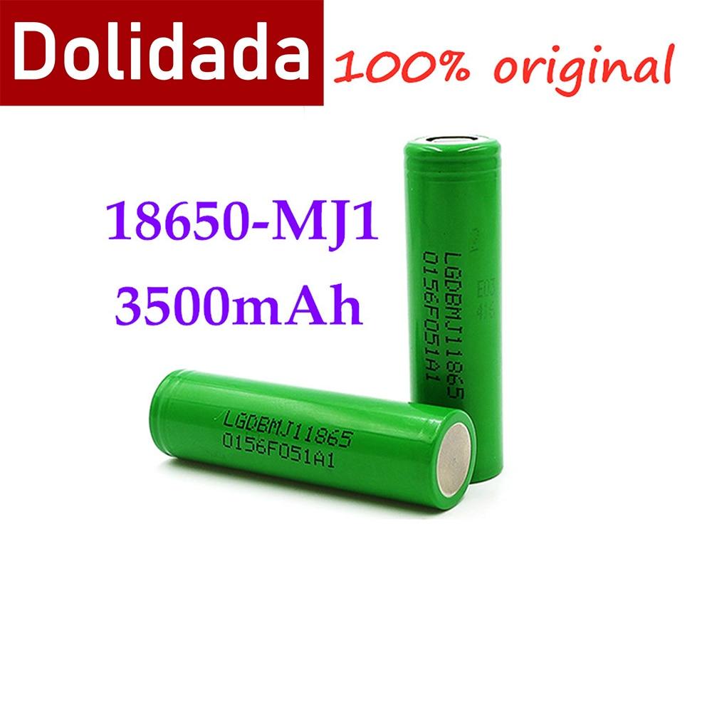 100% oryginalny mj1 3.7 v 3500 mah 18650 akumulator litowy do baterii latarki do 18650 LG MJ1 3500 mah baterii