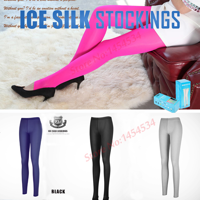 2Pairs Quality Compression Leggings Bottom Socks Woman Sunscreen raining Ice Leggings Long Pants Step Socks Outdoor Stockings