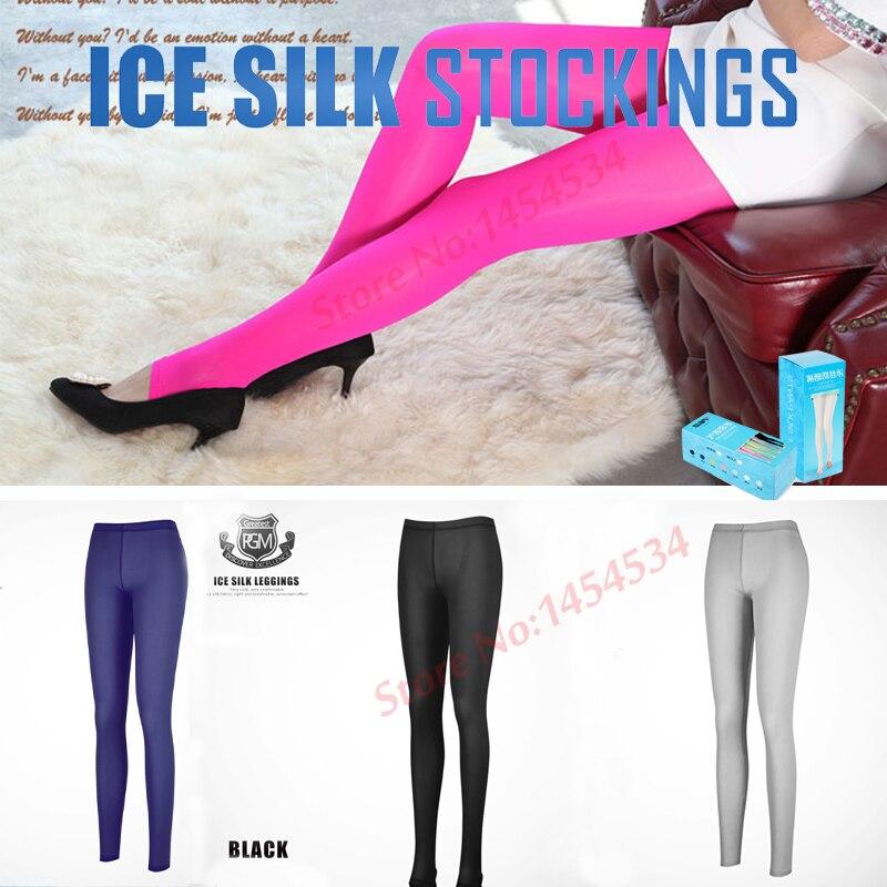 Quality Compression Leggings Bottom Socks Woman Sunscreen Raining Ice Leggings Long Pants Step Socks Golf Outdoor Stockings