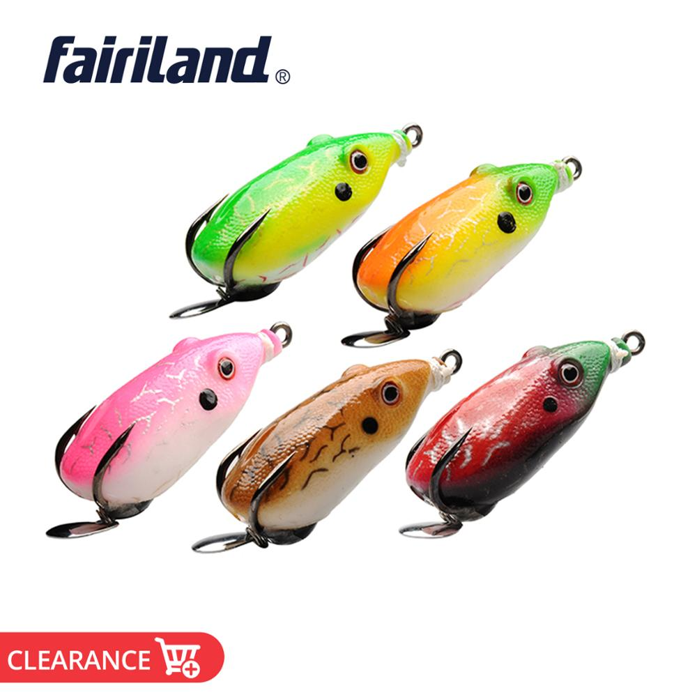 5pcs Rubber Artificial Frog Fishing Lure Soft Bait with Carbon Steel Hook #HE