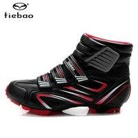TIEBAO 겨울 자전거 신발 sapatilha ciclismo mtb 산악 자전거 남성 운동화 chaussure vtt Windproof superstar Athletic Boots