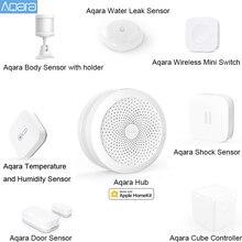 Умный дом AQARA Gateway Hub, хаб для дверей, окон, датчик удара, датчик корпуса, беспроводной переключатель, датчик воды для Apple Homekit
